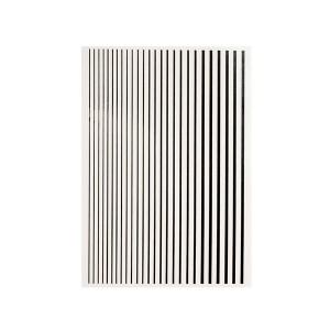 Magic stripes sticker - Črna